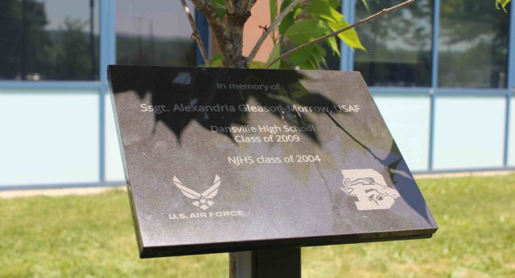 Memorial Tree Planted in Honor of Staff Sgt. Gleason-Morrow at Dansville Central School
