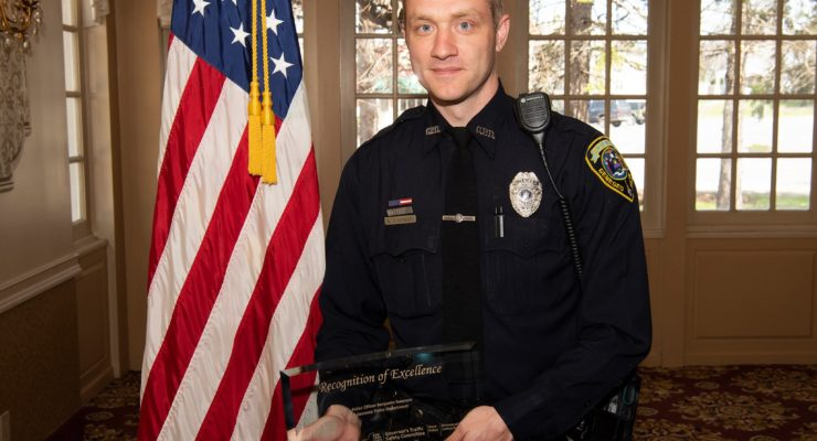 Geneseo Police Officer Swanson Recognized by MADD for DWI Enforcement