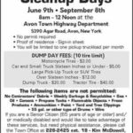 Next Town of Avon 'Cleanup Day' September 8th
