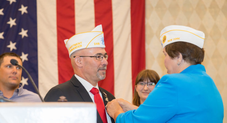 First Iraq War Veteran Sworn In as 100th Commander of American Legion Department of New York