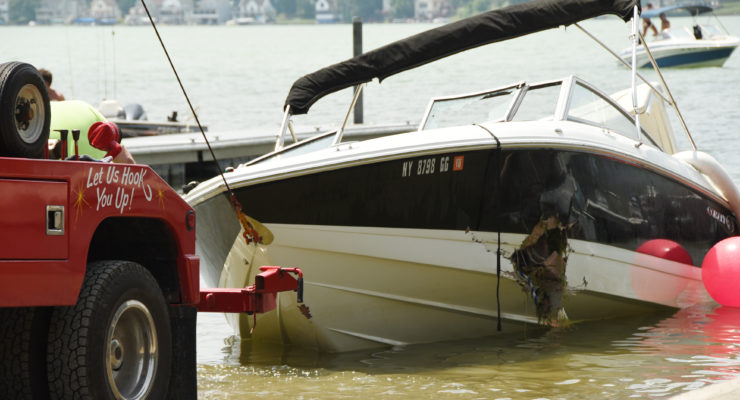 Sunken Boat from Conesus Lake Ring of Fire Recovered