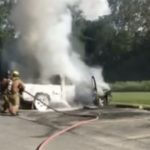 WATCH: Caledonia Truck Destroyed in Fire