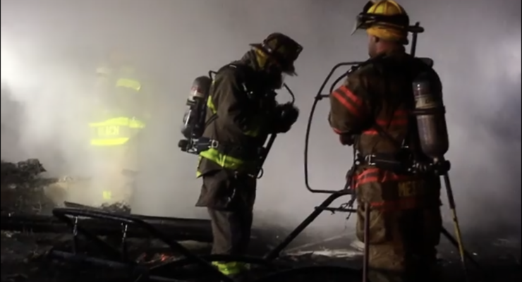 VIDEO: Fire Fighters Battle Early Morning Barn Blaze