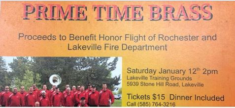 Event to Benefit Honor Flight and Lakeville Fire Department