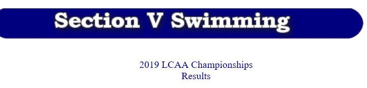 2019 LCAA Championships Team Rankings