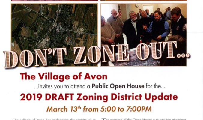Village of Avon Holding Open House For 2019 Draft Zoning District