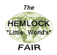 Wednesday's Hemlock Fair Schedule