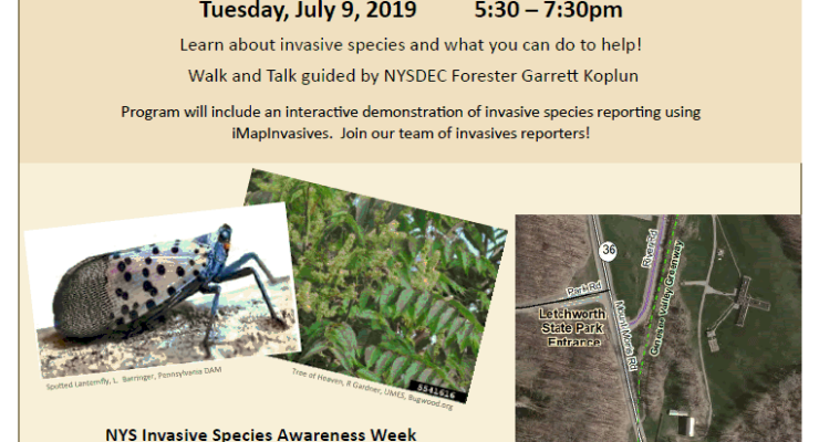 Invasive Species Walk and Talk Tomorrow