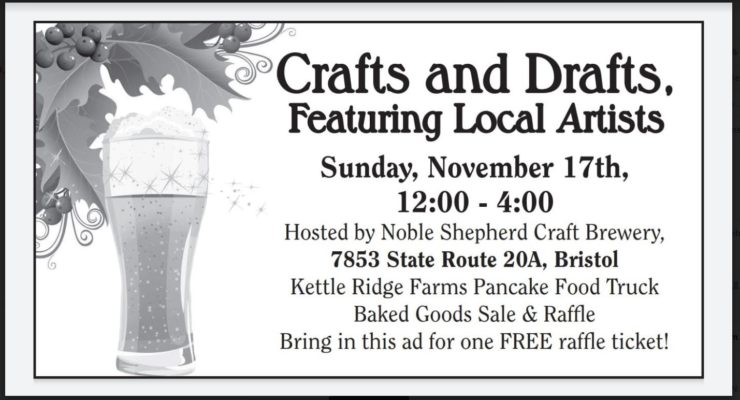 Crafts and Drafts This Sunday