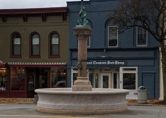 GENESEO FOUNTAIN STRUCK  3RD TIME IN SIX WEEKS