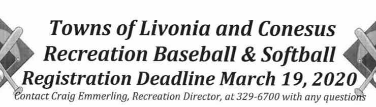 Spring Baseball and Softball Leagues Forming