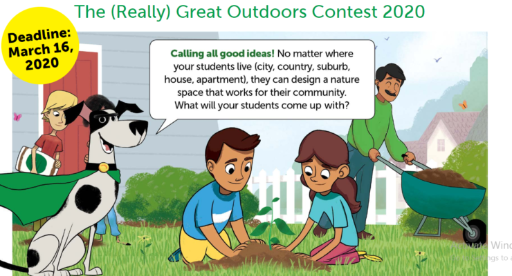 "Lots Of Prizes For Sixth to Eight Graders  Who Enter ""Great Outdoors"" Contest"