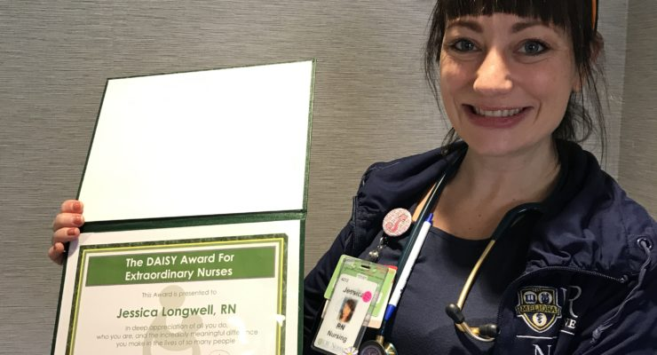 Nurse Jessica Longwell From Noyes Receives Daisy Award