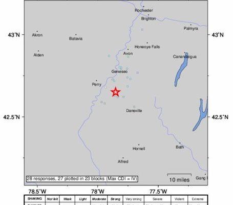EARTHQUAKE HITS  LIVINGSTON COUNTY